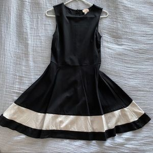 Fitted black and white dress
